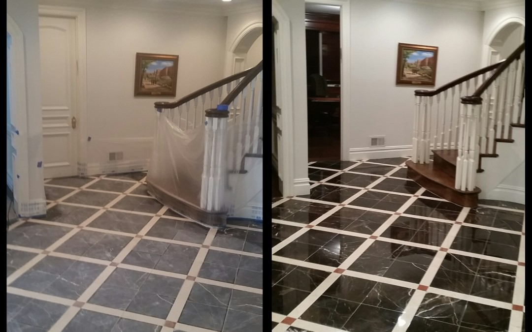 Foyer Flooring Nj : Long beach island nj travertine limestone marble
