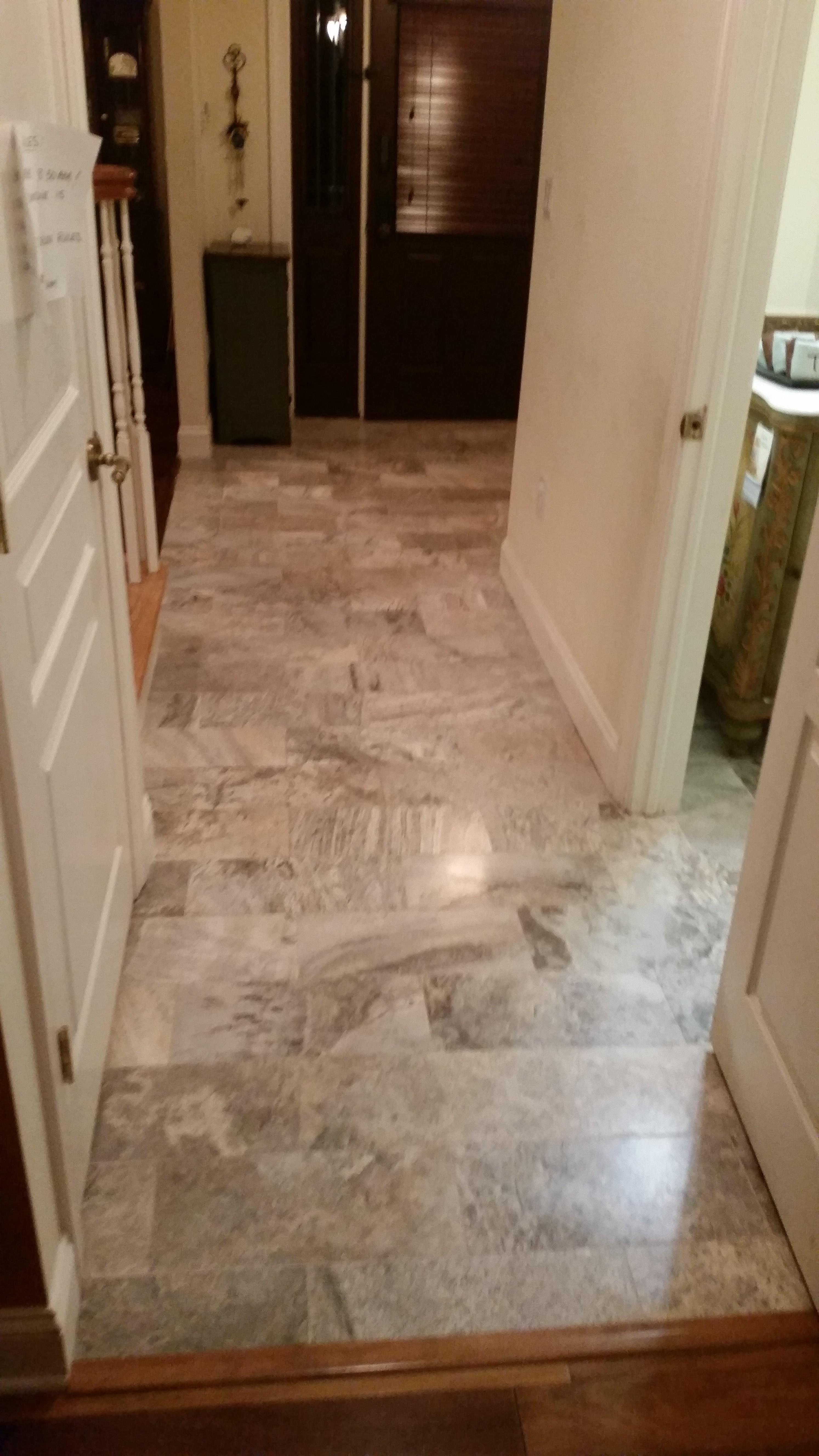 Foyer Tile Grout : Honed travertine restoration refinishing foyer floor