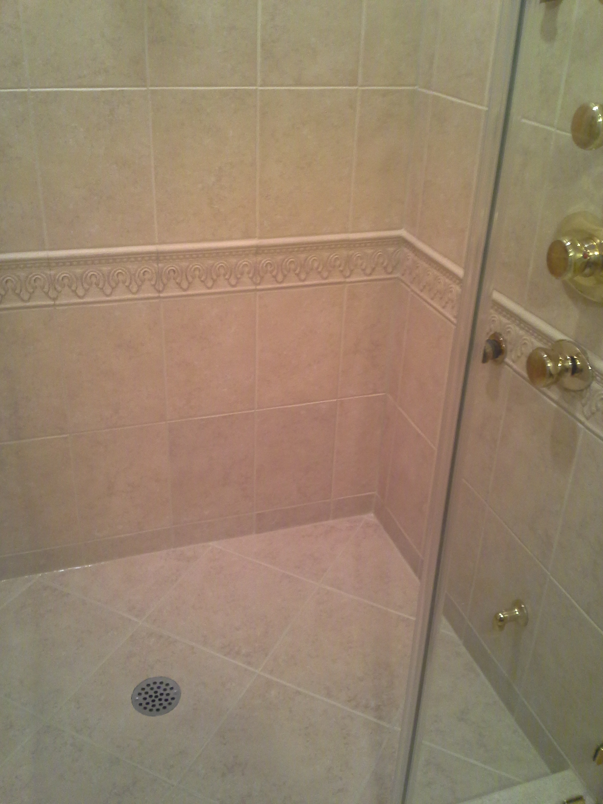 Moldy Shower Grout Caulk Bathroom Grout Repair Vs Dirty Foyer