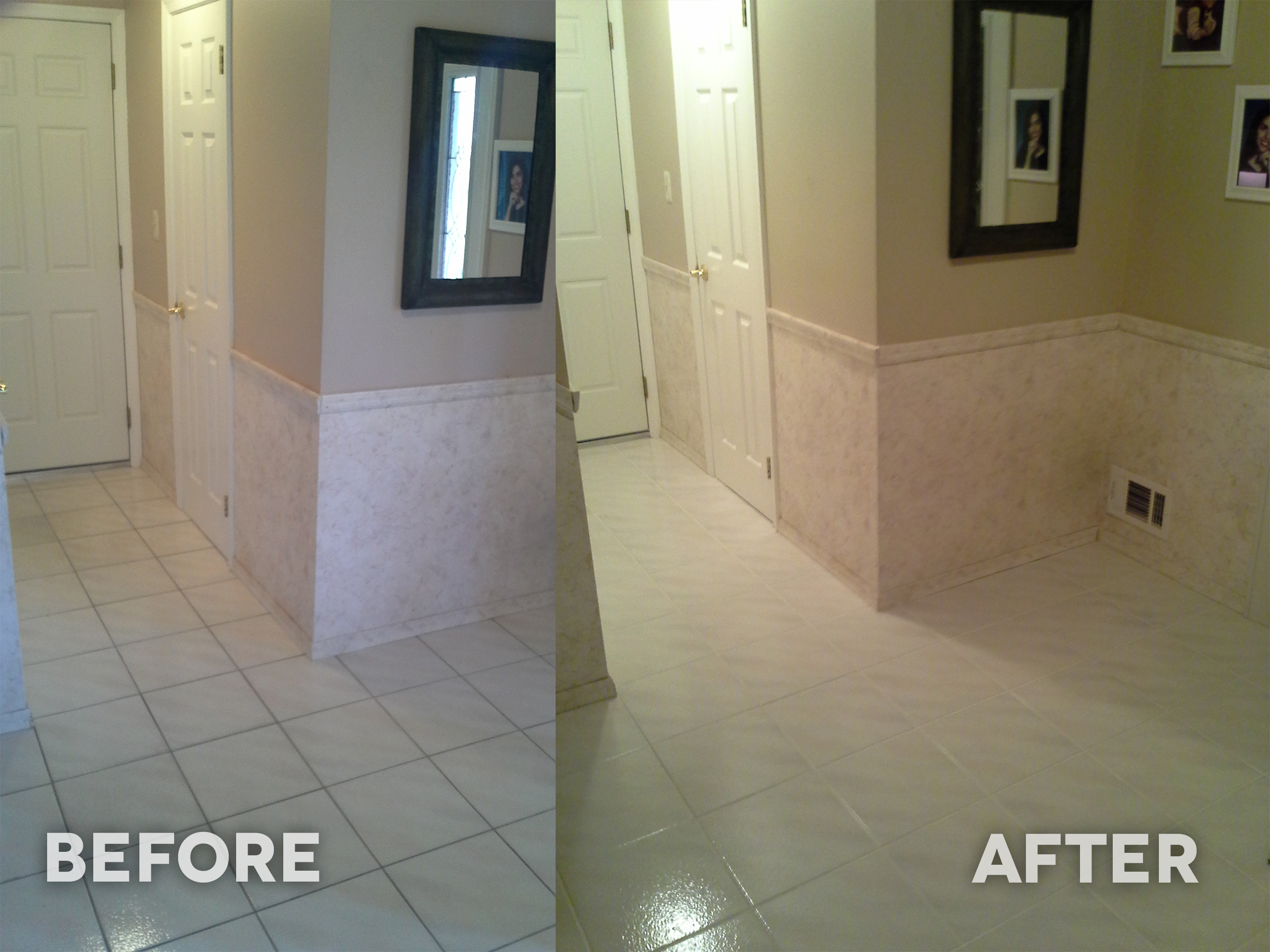 Steam Cleaning Grout Alone VS Color Sealing Grout In Red Bank - Does steam clean grout