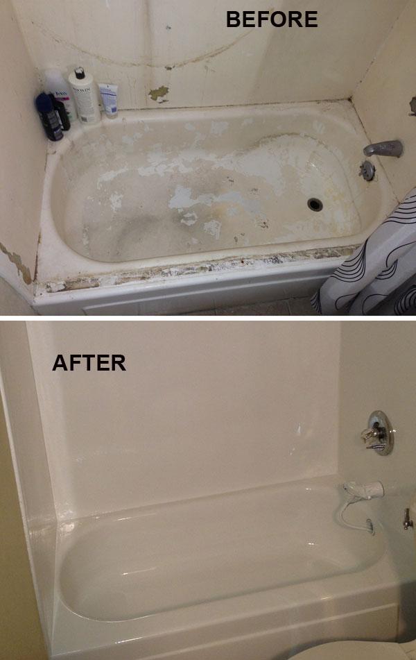 Bathtub refinishing grout works for Bathtub liner problems