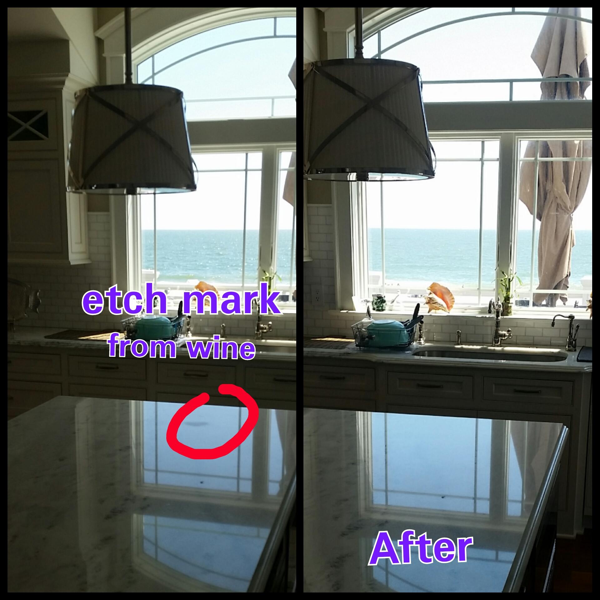 Long Beach Island Lbi Nj Cararra Marble Repair Amp Polishing