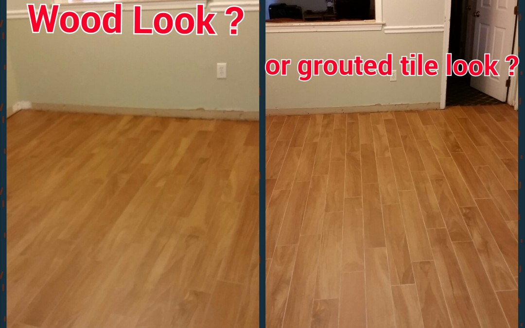 Can Wood Look Tile Really Look Like Wood The Importance Of Grout - Dark brown tile that looks like wood